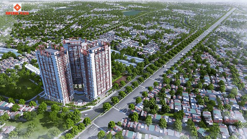 Phối cảnh tổng thể chung cư 360 Giải Phóng