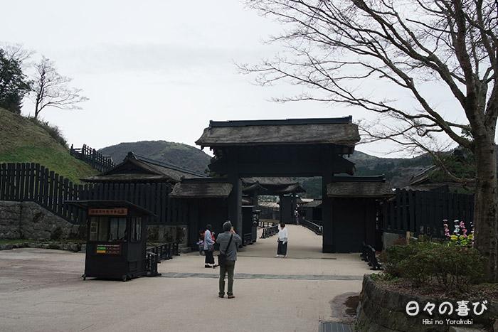 vue d'ensemble porte d'entrée hakone sekisho et billetterie