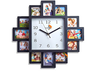 Deals unique clock: NEW BLACK HANGING MODERN 12 MULTI PHOTO FAMILY PICTURE FRAME & TIME WALL CLOCK @ ebay £10.99 (limited stock)