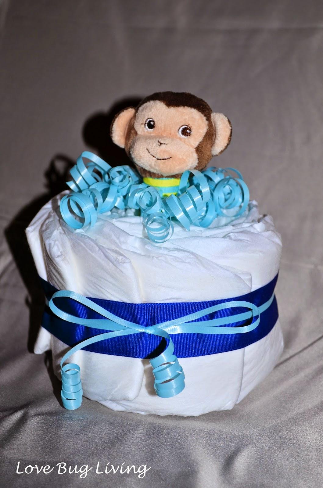 Love Bug Living Swaddled Diaper Baby Amp Mini Cake Gift