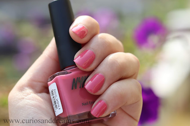 Nykaa nail polish, Nykaa wedding edition nail polish, review, swatch, pink bloom