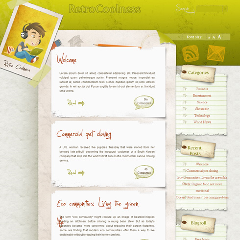 retro free wordpress theme 2012 30 Ücretli Ücretsiz WordPress Teması