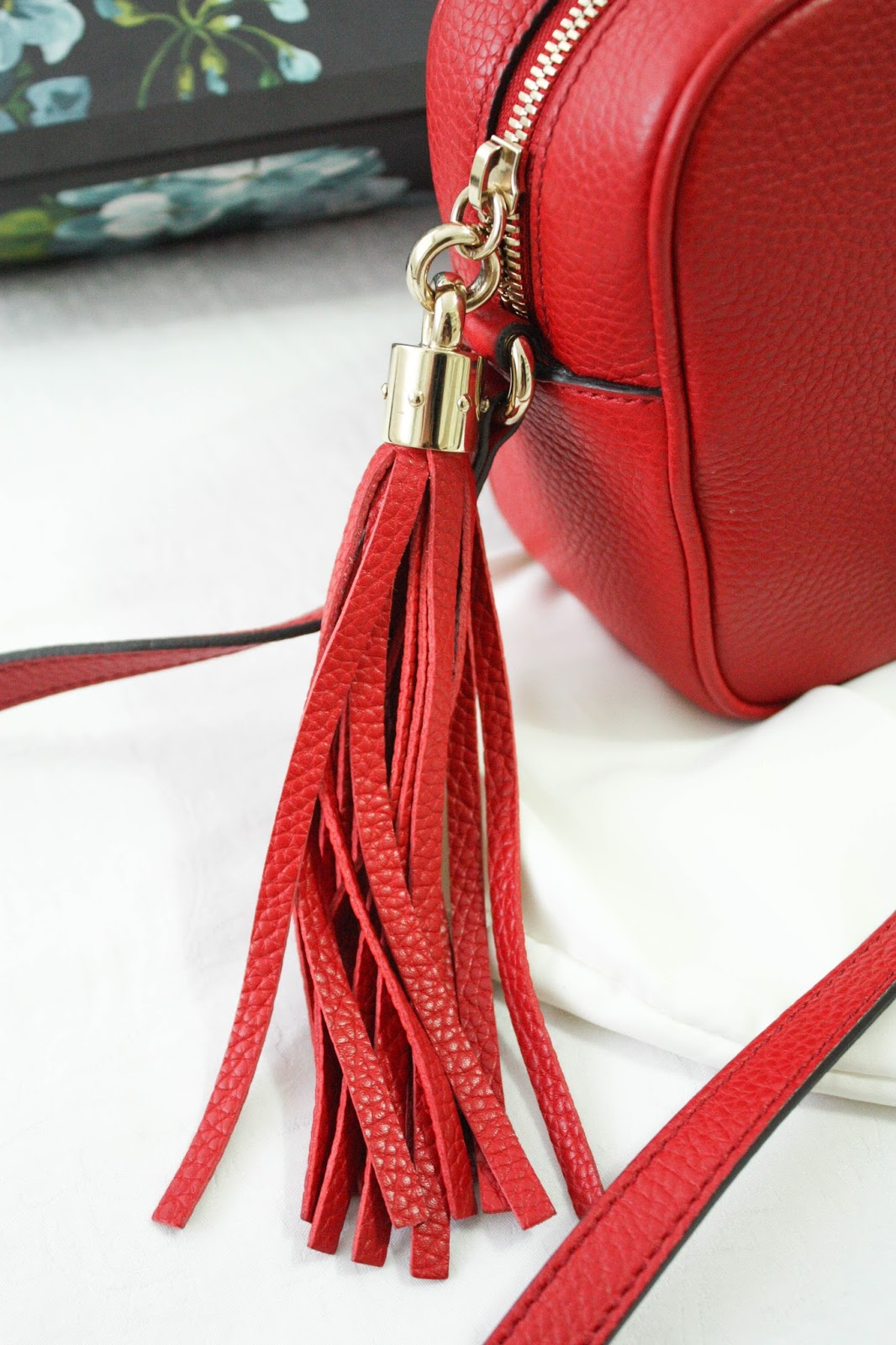 9743ed9bbe4ad7 The bag's handle is a tassle, and it is SO cute. The hardware is gold, and  look at the details on the handle. It's so beautiful. This bag is so  beautifully ...