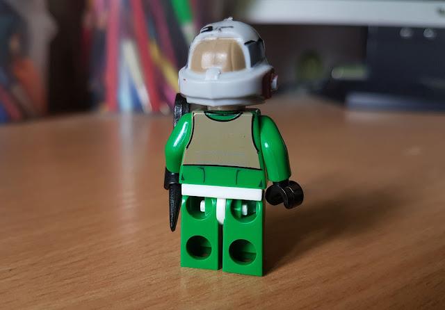 Пилот повстанцев в зеленом комбинезоне фигурка лего Звездные войны, Стар Варс