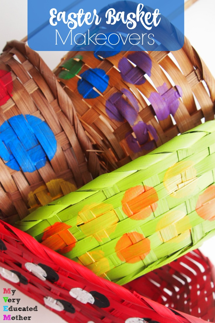 DIY your next Easter basket by giving an old one a colorfully crafty makeover!