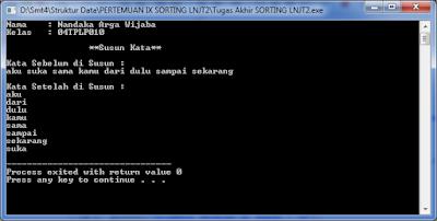 output sorting lanjut 2