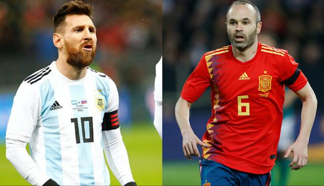 con triplete de isco españa derrota a argentina