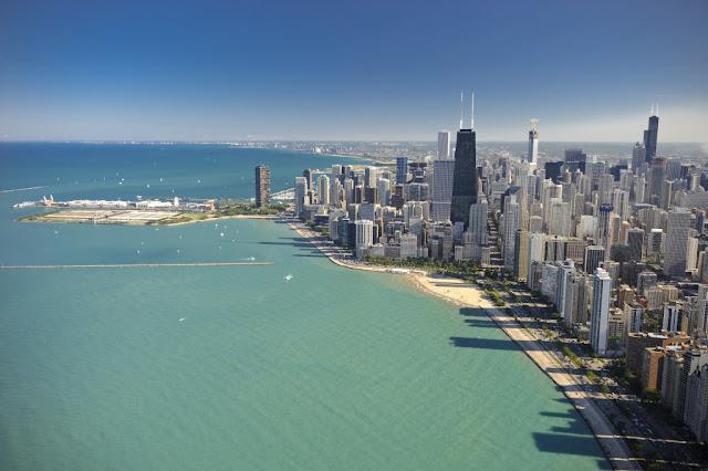 Viagem de carro de Chicago à Nova York ou de Nova York à Chicago
