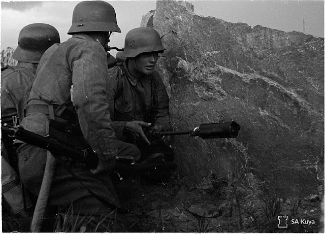 Finnish pioneer troops with a flamethrower, 5 July 1941 worldwartwo.filminspector.com