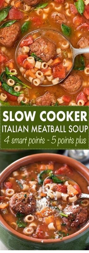 Slow Cooker Italian Meatball Soup