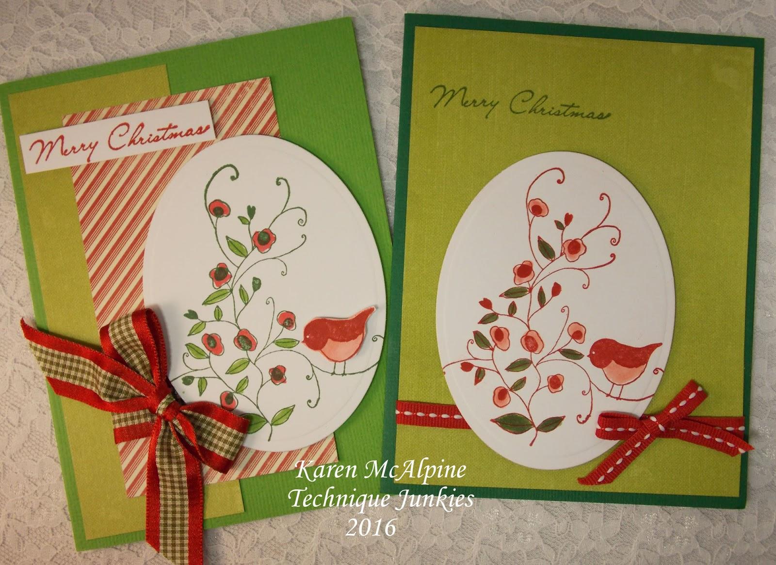 Design Junkies: Whimsical Bird Christmas Card