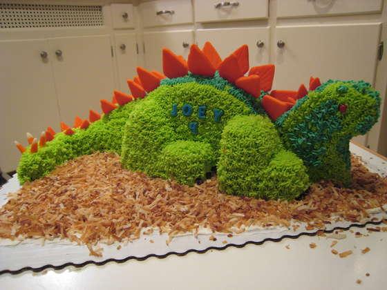 T Rex Birthday Cake Template
