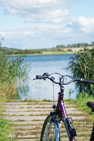 2in1 Photoday: Über mein Ausgang foto lege ich dieses Bild vom Fahrrad am See.