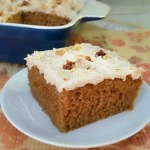 Quick, easy and sooo delicious recipe for moist Pumpkin Cake Bars - around 15 servings