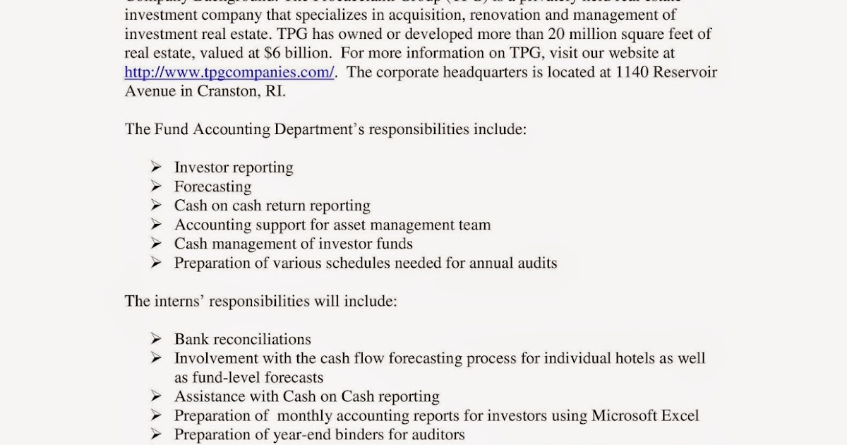 URI CBA Internship/Job Information: The Procaccianti Group