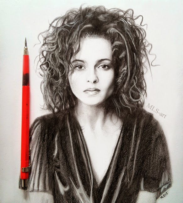 07-Helena-Bonham-Carter-Martin-Lynch-Smith-MLS-art-Celebrity-Drawings-www-designstack-co