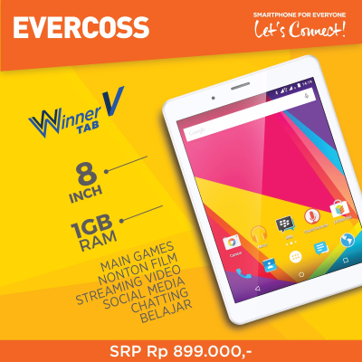Harga dan Spesifikasi Evercoss Winner Tab V AT8B