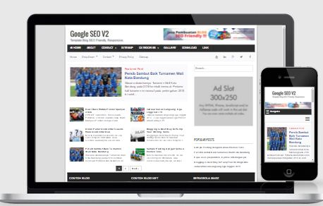 Google SEO V2  - Template Blog SEO Friendly Responsive  Gratis!
