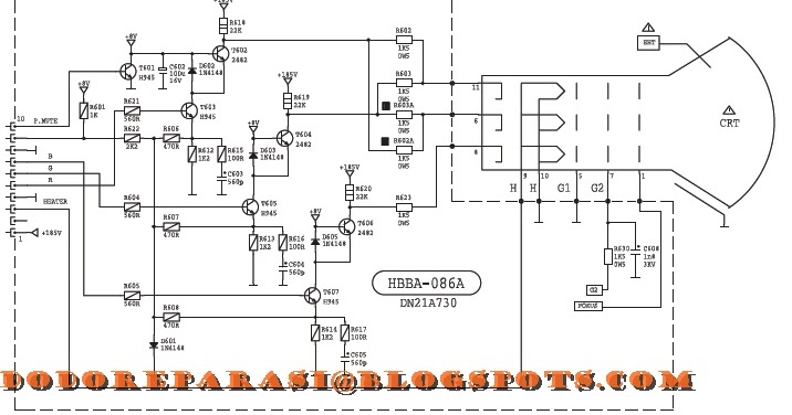 SERVIS TV LED/LCD SALATIGA: DIAGRAM CRT-PCB POLYTRON 51N21T