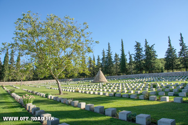 British military WW1 cemetery near village Doirani, Greece