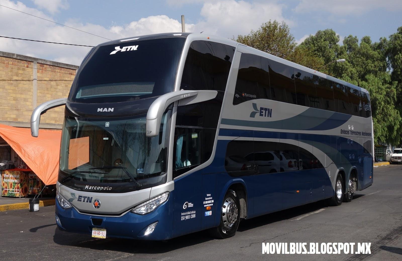 MOVILBUS: ETN estrena autobuses Marcopolo MP180MX con chasis MAN.