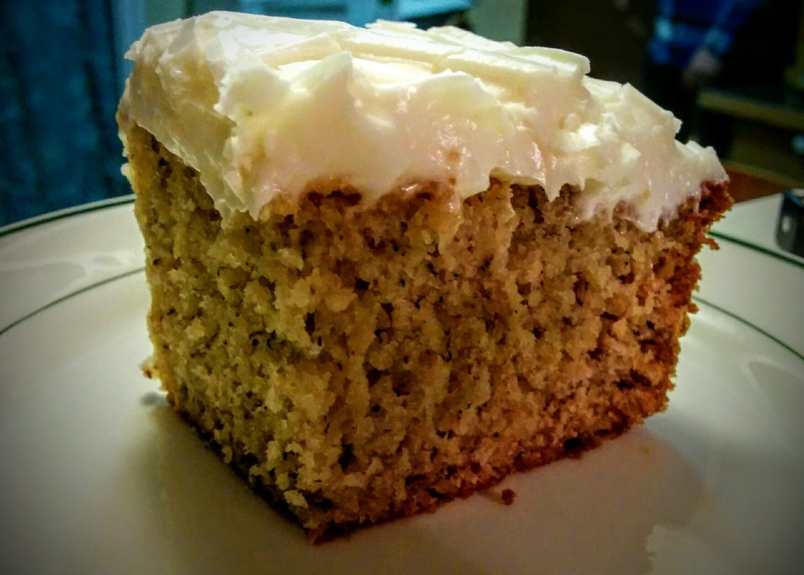 banana cake with cream cheese frosting This homemade banana cake with vanilla frosting is made totally  a snack cake without the frosting like cream cheese  made banana cake all the time.