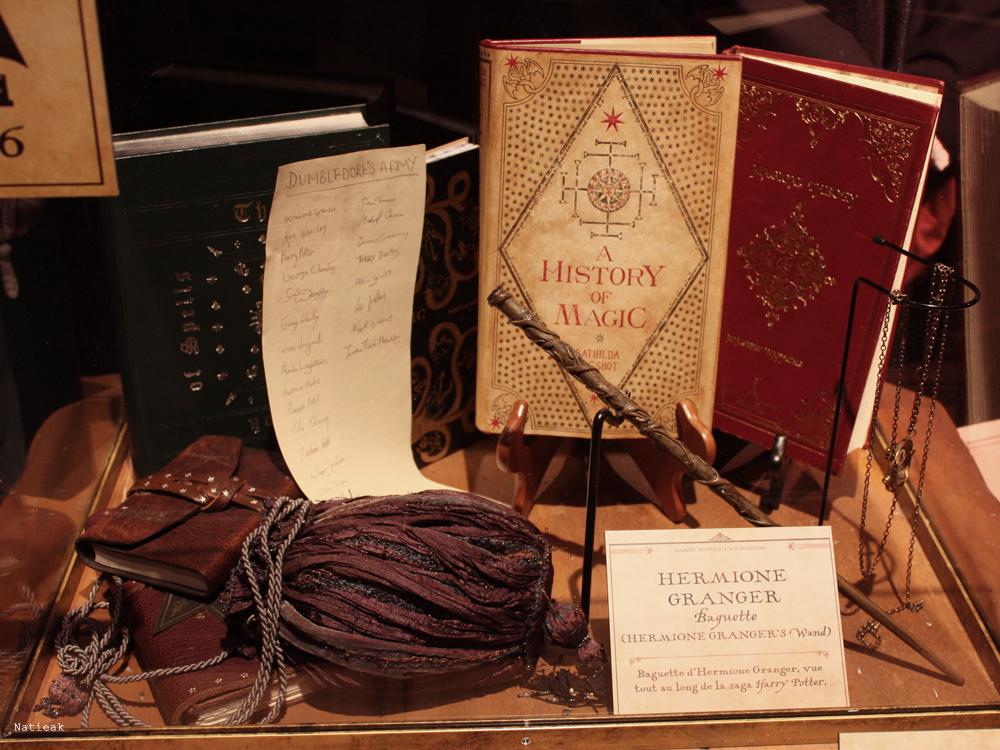 Objet d'hermione exposition Harry Potter
