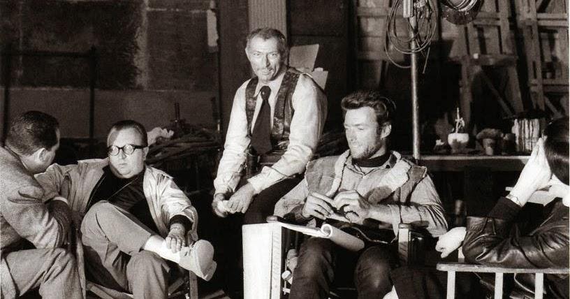 vintage everyday: Sergio Leone, Lee Van Cleef and Clint ...