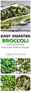 Easy Roasted Broccoli Recipe with Lemon and Pecorino-Romano Cheese [found on KalynsKitchen.com]