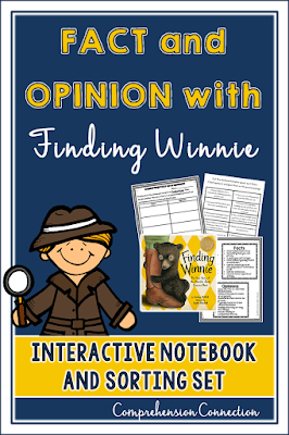 This Fact and Opinion freebie from Comprehension Connection will help you teach using the award winning mentor text, Finding Winnie.