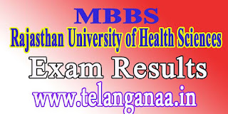 Rajasthan University of Health Sciences MBBS Part 2 June 2016 Exam Results