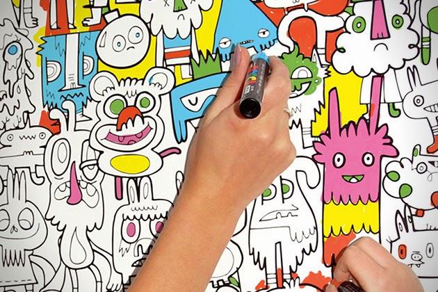 dibujos para coloriar de diferentes maneras