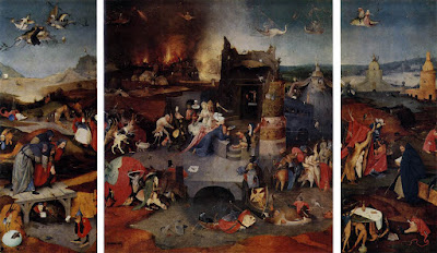Triptych of the Temptation of St. Anthony, by Heironymous Bosch