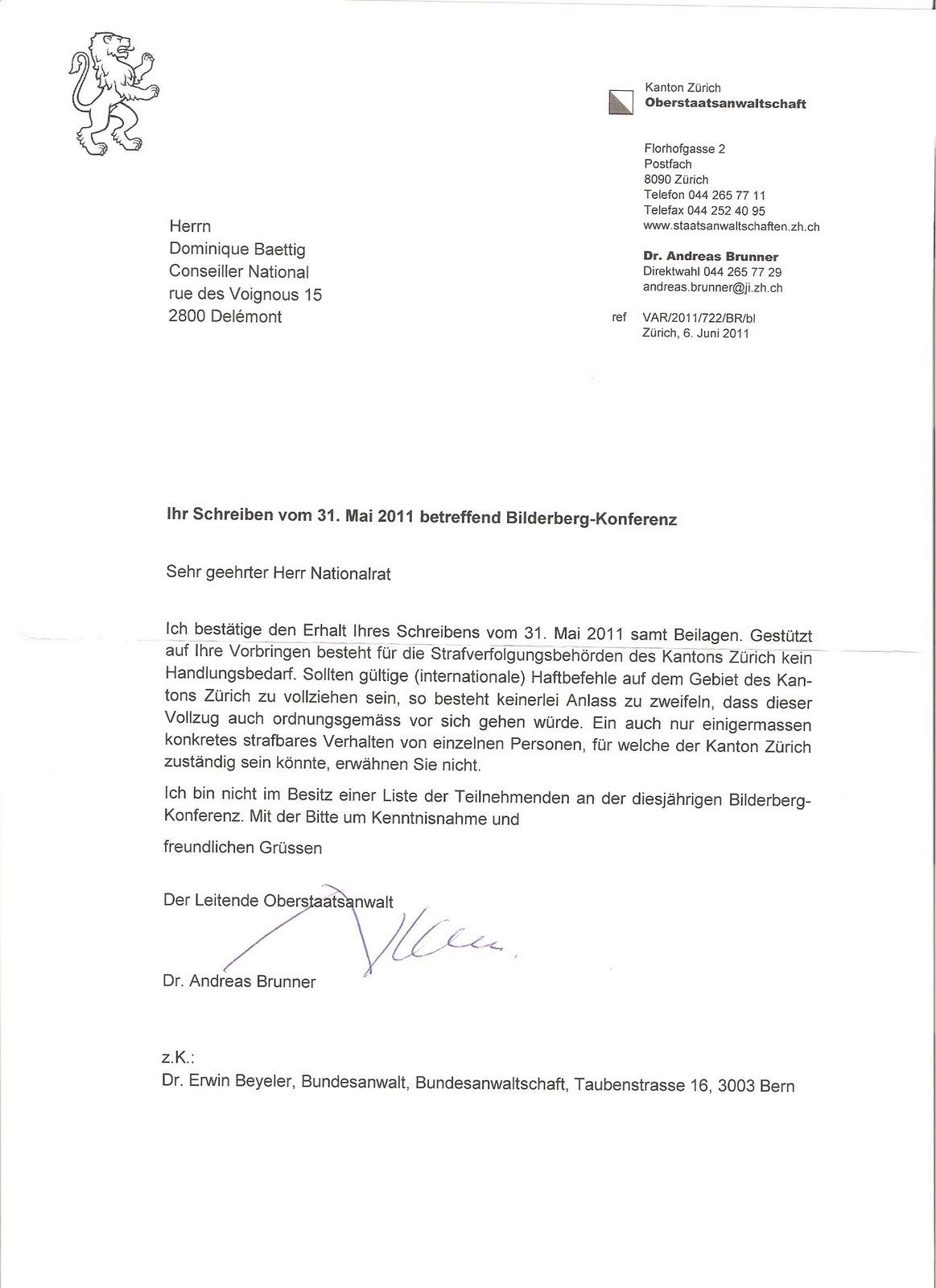 Alles Schall Und Rauch Antwort Des Oberstaatsanwalt Des Kanton Zürich