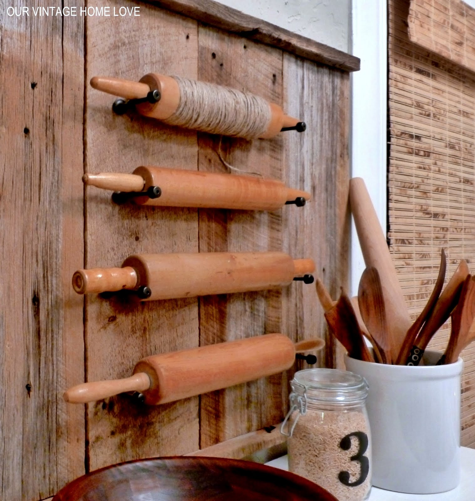Our Vintage Home Love Rolling Pins