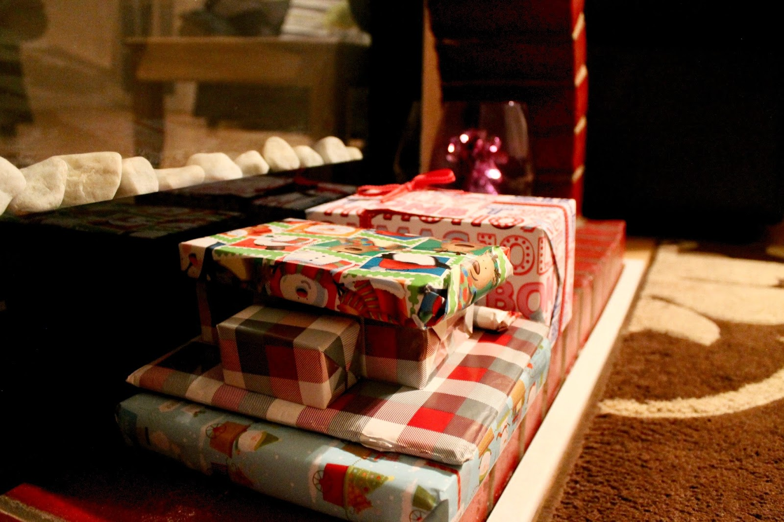 Presents Near The Fire Place