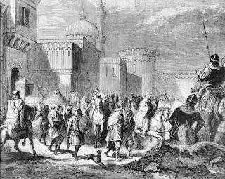 Muslim troops leaving Narbonne in 759 by Émile Bayard