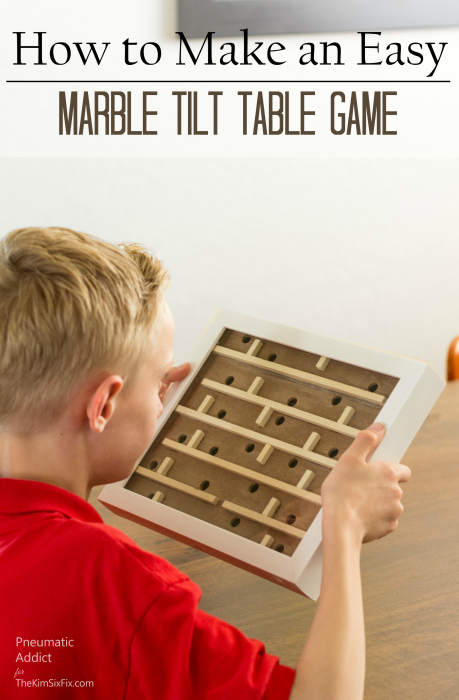 DIY marble wood tilt table game easy tutorial