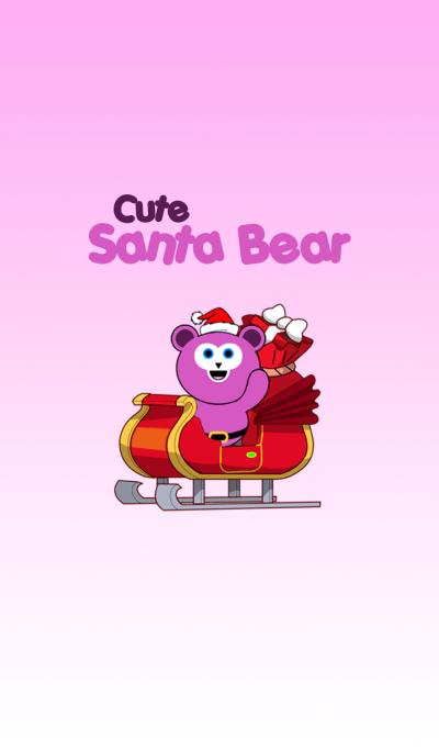 Cute Santa Bear theme