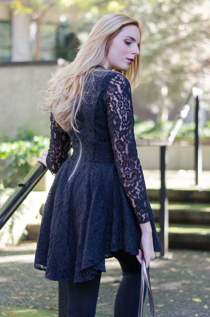 Long-sleeved black lace H&M Dress