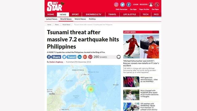 Gempa Besar Guncang Filipina, Potensi Tsunami Bisa sampai Indonesia