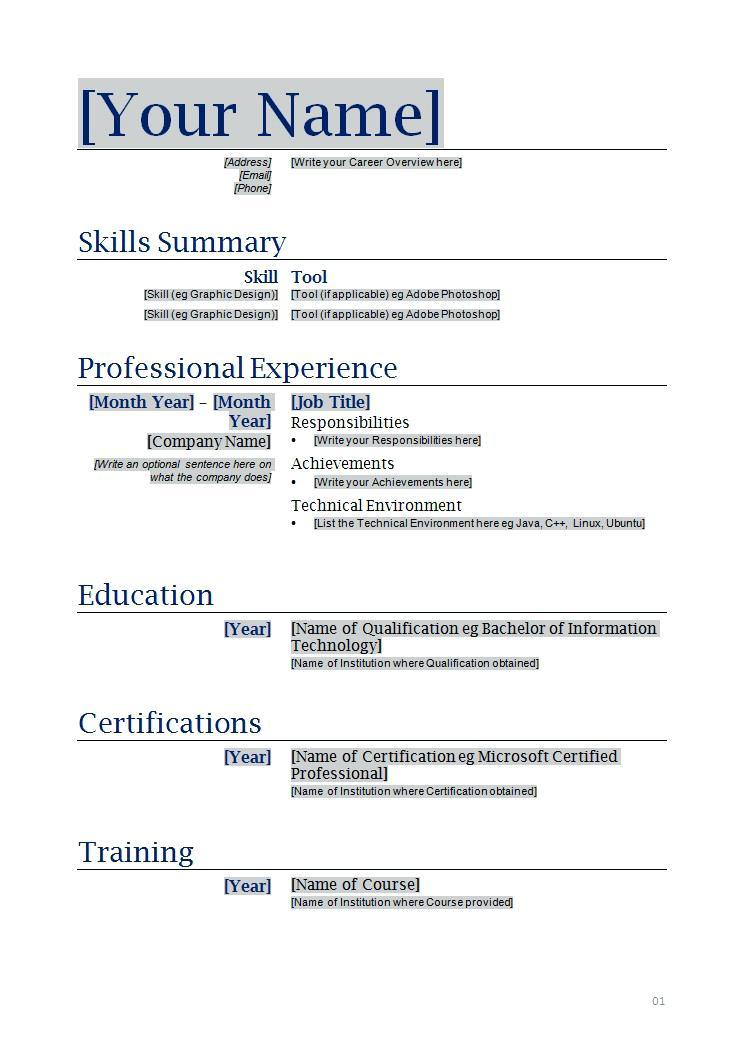 Professional Resume Samples 2019 - Resume Templates