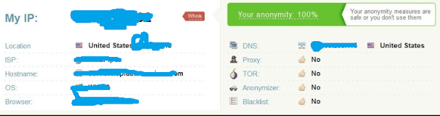 Anonymity 100% di Whoer.net