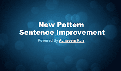 New Pattern English Quiz: Sentence Improvement