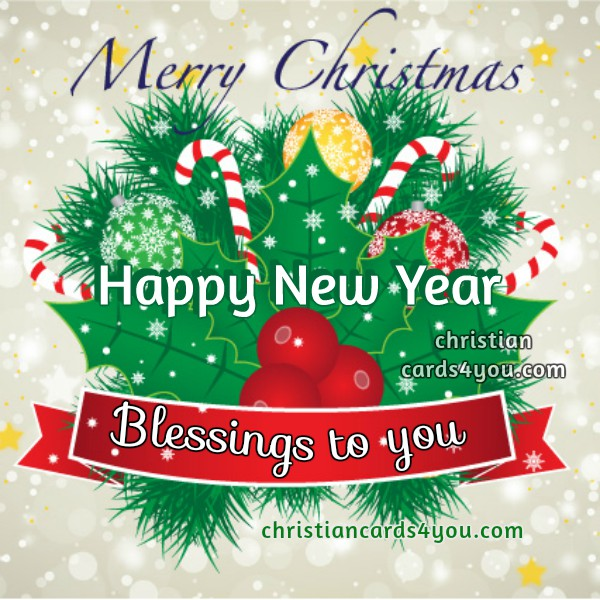 Christmas Image with nice christian quotes. Blessings to you. Mery Bracho Christmas Cards.