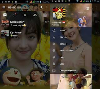 BBM Mod Change Background Theme Doraemon v3.1.0.13 apk