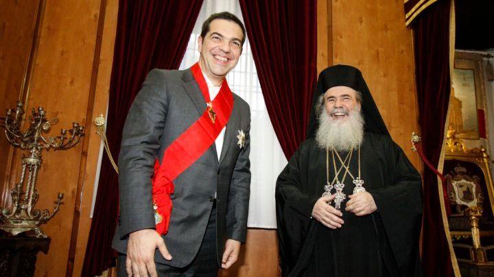 Ο Τσίπρας τιμήθηκε με τον Μεγαλόσταυρο του Παναγίου Τάφου - ΒΙΝΤΕΟ