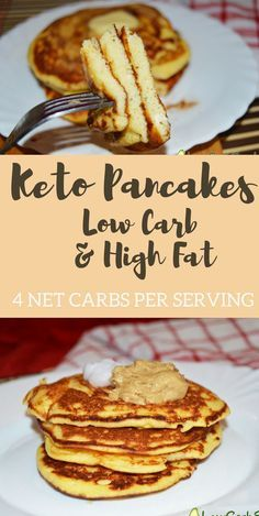 The best Keto Pancakes With Coconut Flour Recipe - Low Carb (Only 3 Carbs) & High Fat