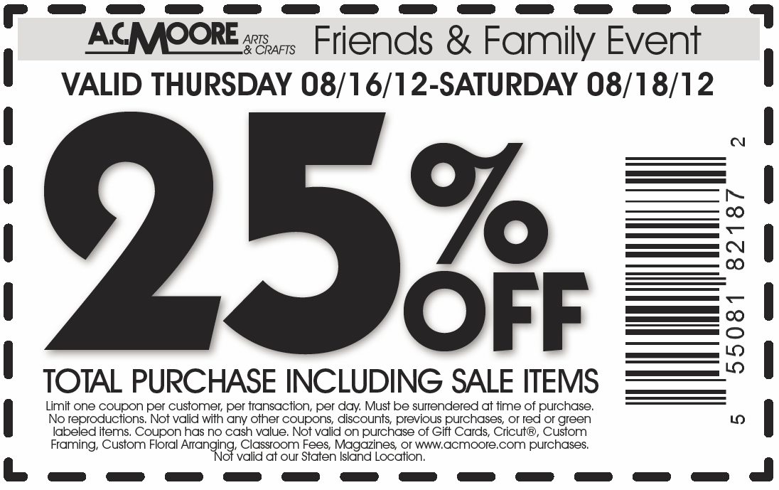photo about Ac Moore Printable Coupon titled Printable coupon codes ac moore 50 off - Virgin broadband cellphone specials