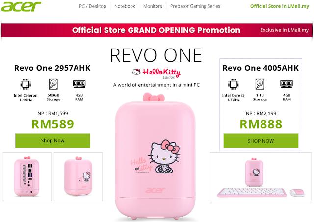 Acer Malaysia Hello Kitty Revo One Mini PC Discount Promo